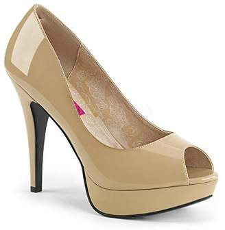 Pleaser USA Pink Label Women's Chloe01/Cr Platform Pump