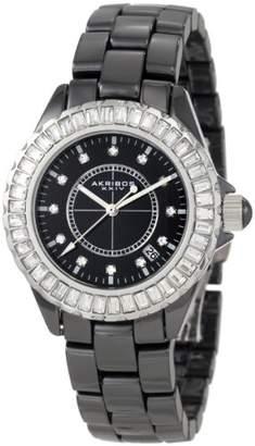 Akribos XXIV Women's AK500BK Ceramic Interchangeable Bezel Bracelet Watch
