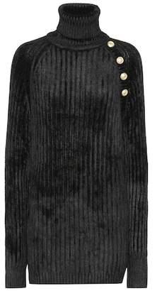 Balmain Chenille turtleneck sweater