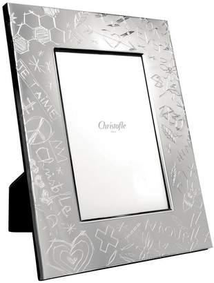 "Christofle Graffiti Silver Plated Photo Frame (4"" x 6"")"