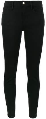 Frame Le Color Black mid rise skinny jeans