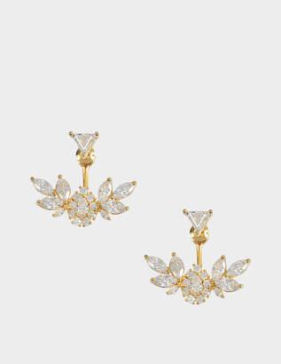 Shourouk Z Triangle Flower earrings