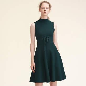 Maje Stretch-knit sleeveless dress with belt