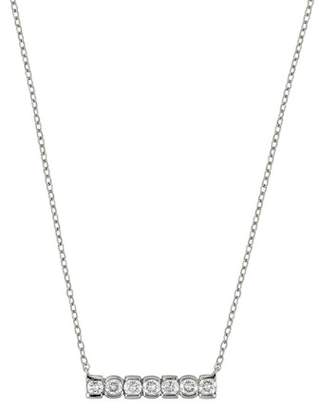 Bony Levy 18K White Gold Diamond Bar Pendant Necklace - 0.23 ctw