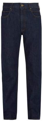 Calvin Klein Embroidered High Rise Jeans - Mens - Blue