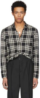 Maison Margiela Black Plaid Shirt