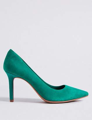 Marks and Spencer Suede Stiletto Heel Pointed Court Shoes