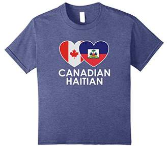 Canadian Haitian National Flags Heart special T Shirt