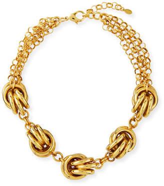 Jose & Maria Barrera Short 5-Knot Necklace