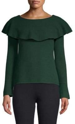 Ruffled Cashmere Sweater