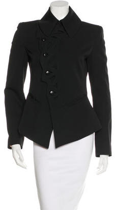 Jean Paul Gaultier Leather-Trimmed Cutout Jacket $225 thestylecure.com