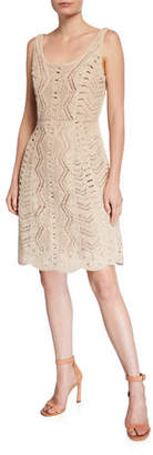 Kobi Halperin Sasha Scoop-Neck Sleeveless Crochet Fit-&-Flare Dress