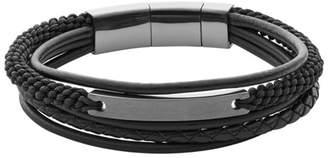 Fossil Vintage Casual Steel Multi-Strand Bracelet Jewelry