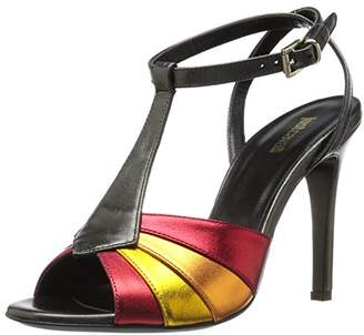Just Cavalli Women's Laminated Leather Multi Heel Dress Pump