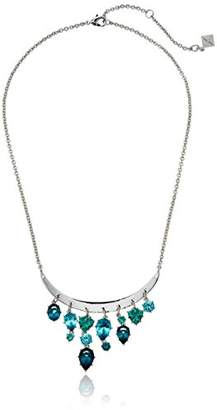 Nicole Miller Gypset Curve Bar Drops Silver Necklace