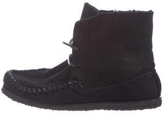 Etoile Isabel Marant Leather Shearling-Lined Boots