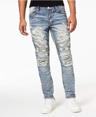 Heritage America Men's Destruction Denim Jeans