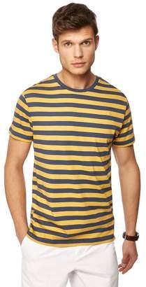 J by Jasper Conran Big And Tall Yellow Breton Stripe Crew Neck T-Shirt