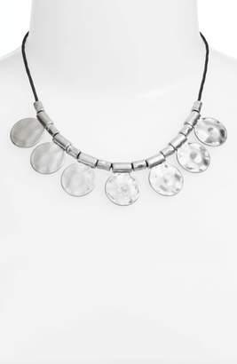 Treasure & Bond Organic Summer Metals Sliding Disc Necklace