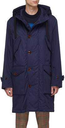 Acne Studios Hooded padded twill military parka