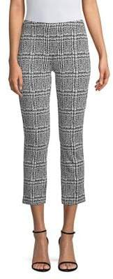 MICHAEL Michael Kors Plaid Cropped Stretch Trousers