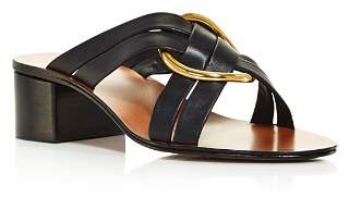 Chloé Women's Rony Leather Mid-Heel Sandals