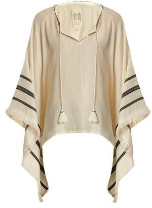 Velvet by Graham & Spencer X Kirsty Hume Petunia Cotton Poncho Top - Womens - Cream Multi