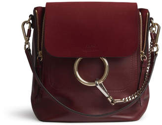 Chloé Faye Backpack Small Sienna Red