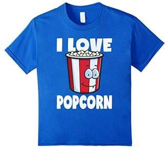 I Love Popcorn Vintage Retro Buttery Popcorn Lover T-Shirt
