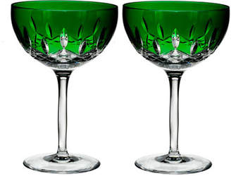 Waterford Crystal Lismore Pops Emerald Cocktail Glasses, Set of 2