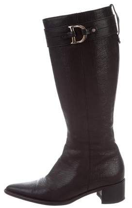 Christian Dior Pointed-Toe Leather Boots