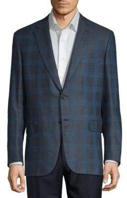 Brioni Plaid Notch Jacket