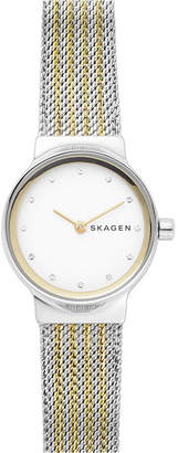 Skagen Women's Freja Two-Tone Stainless Steel Mesh Bracelet Watch 26mm