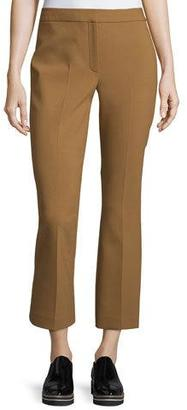 Theory Erstina Pioneer Cropped Pants, Vicuna $295 thestylecure.com