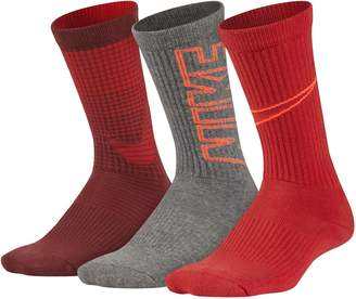 Nike Boys Performance 3-Pack Crew Socks