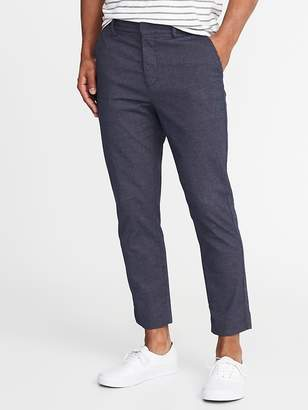 Old Navy Relaxed Slim Built-In Flex Cropped Signature Pants for Men