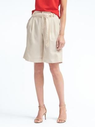Avery-Fit Tie-Waist Bermuda Short $58 thestylecure.com