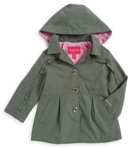 London Fog Little Girl's Ruffle-Trimmed Trench Coat