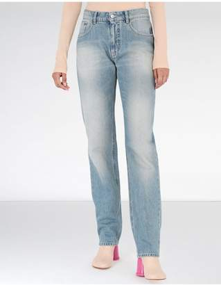 Maison Margiela Light Garage Wash Flared Jeans