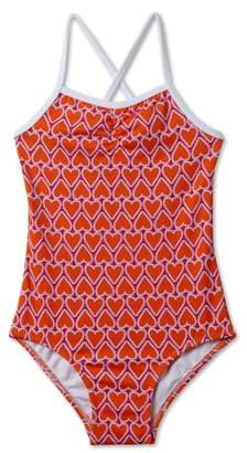 Stella Cove Heart Print One-Piece Swimsuit