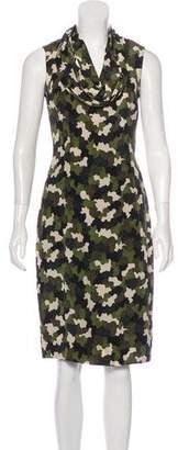 Prada Silk Camouflage Print Dress