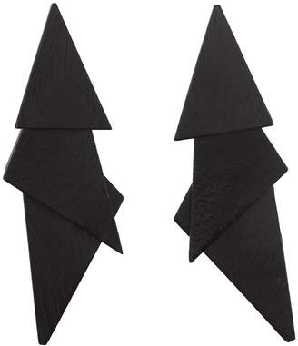 Natori Josie Acacia Wood Triangle Earrings