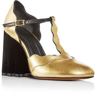 Marni Women's Mary Jane T-Strap Block-Heel Pumps