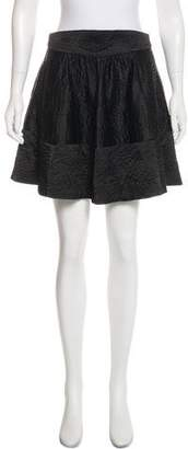 L'Agence Quilted Mini Skirt