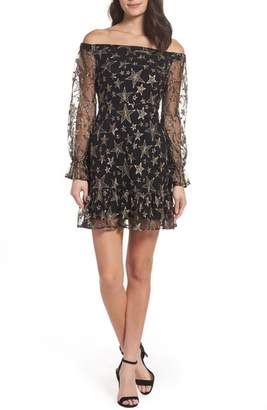 Women's Sam Edelman Off The Shoulder Star Embroidered Dress