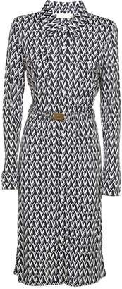Tory Burch Lattice Print Shirt Dress