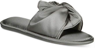 INC International Concepts I.N.C. Women's Satin Knotted Slide Slippers, Created for Macy's