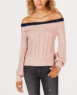 Say What Juniors' Off-The-Shoulder Sweater