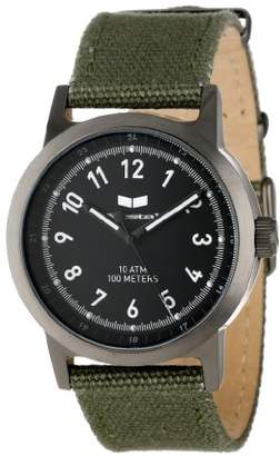 Vestal ' Alpha Bravo' Quartz Stainless Steel and Canvas Casual Watch