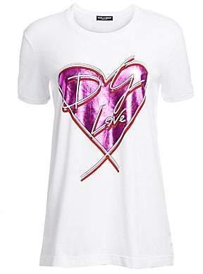 Dolce & Gabbana Dolce& Gabbana Dolce& Gabbana Women's Heart Tee